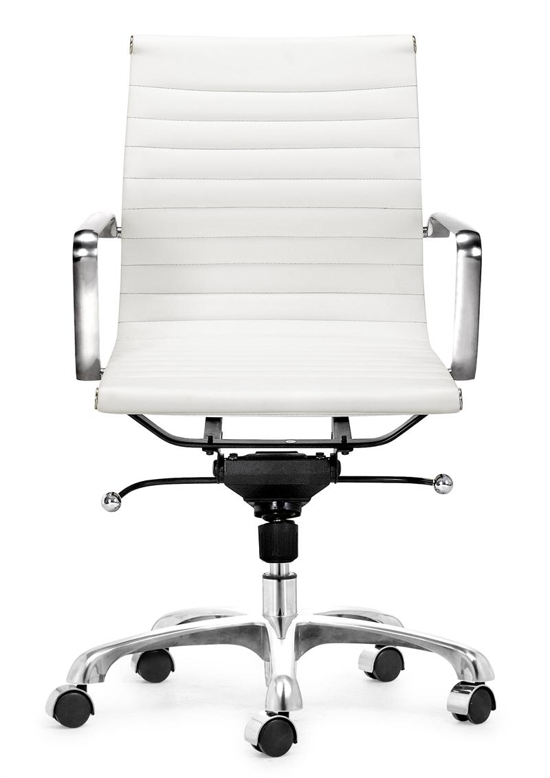 White Rolling Chair Lider Office Chair Zuo Modern