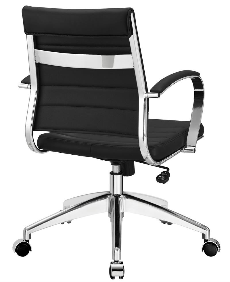 ribbed back aria leather office chair. Black Bedroom Furniture Sets. Home Design Ideas