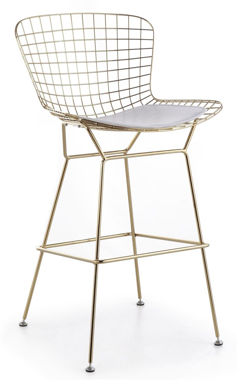 Bertoia Wire Counter Stool In Gold Finish Bar Amp Counter Stools