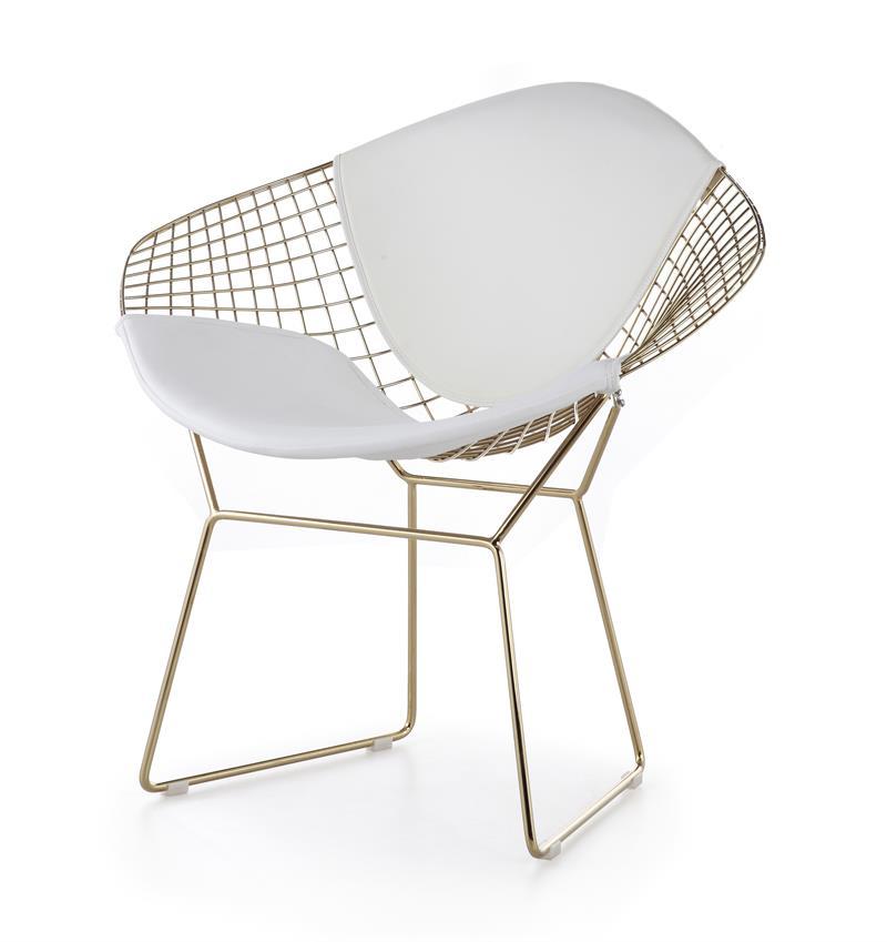 Bertoia Wire Diamond Chair Gold Plated Finish