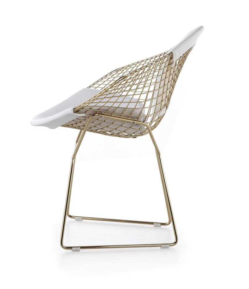 bertoia wire diamond chair gold plated finish. Black Bedroom Furniture Sets. Home Design Ideas
