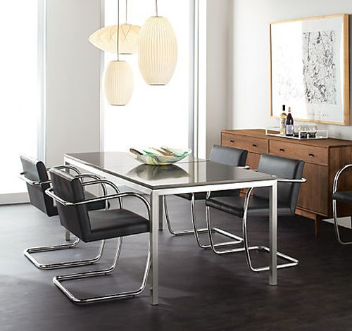 Mies Brno Chair brno style tubular chair - mid century - home and office furniture