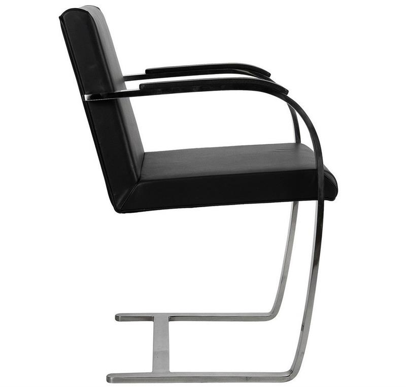 Mies Brno Chair mies brno style canti chair flat arm - home and office furniture