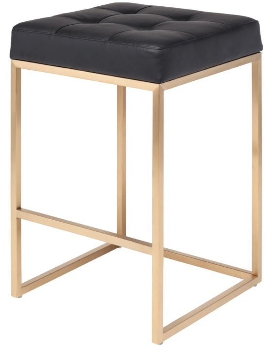 Gold Chi Counter Stool Nuevo Chi Counter Stool In Gold