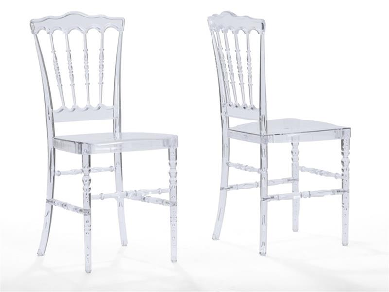 Chiavari Clear Dining Chair Acrylic Stacking Chairs