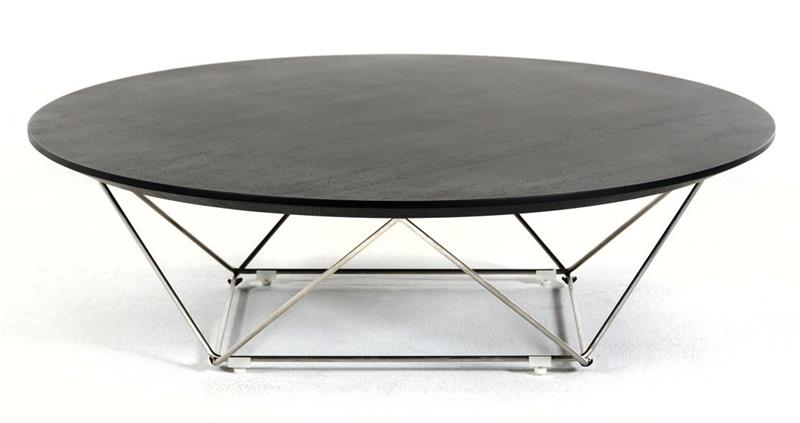 Combination Round Coffee Table Walnut Or Wenge Top