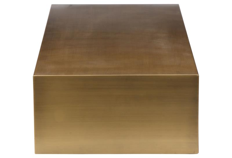 Cube Coffee Table In Brushed Brass Modernselections Com