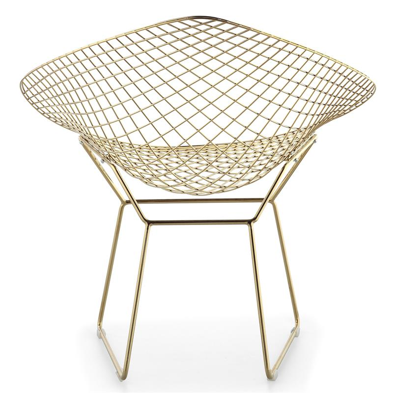 Bertoia Wire Diamond Chair Gold Plated Finish