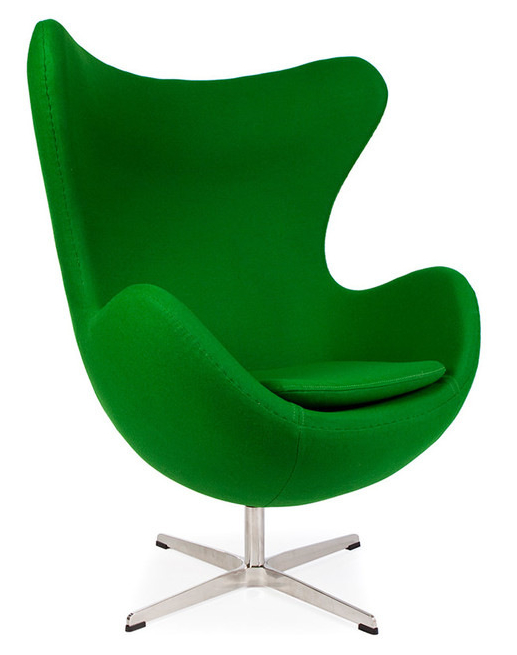 Arne Jacobsen Style Egg In Cashmere Wool Or Leather