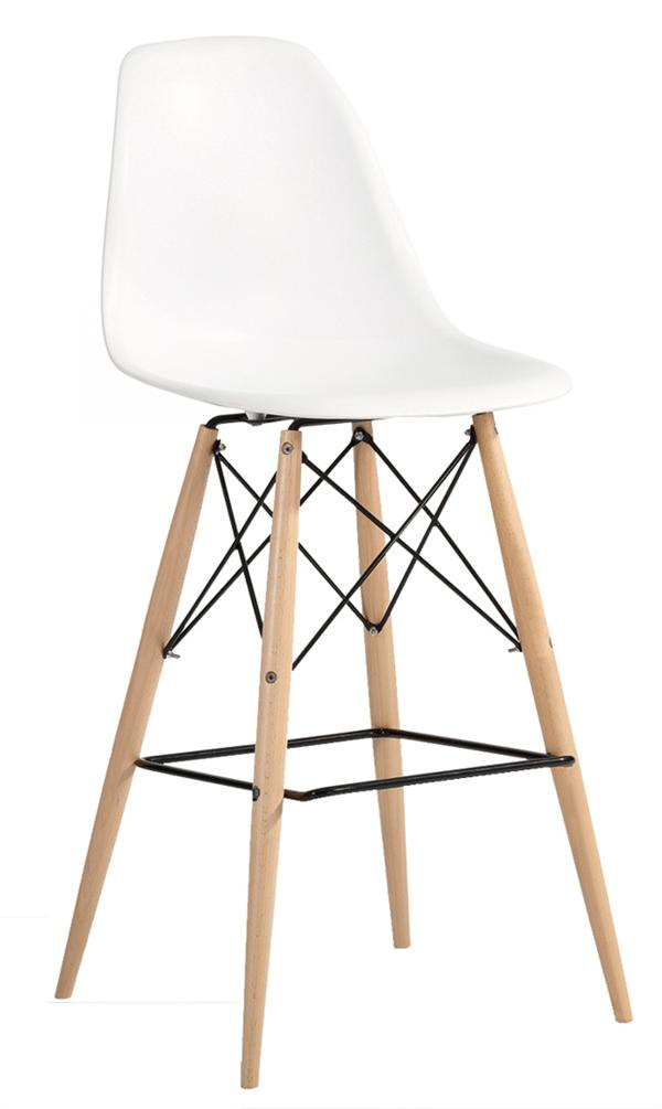 Molded Plastic Barstool With Dowel Legs  sc 1 st  Modern Selections & Molded Plastic Bar Chair With Dowel Legs - ModernSelections islam-shia.org