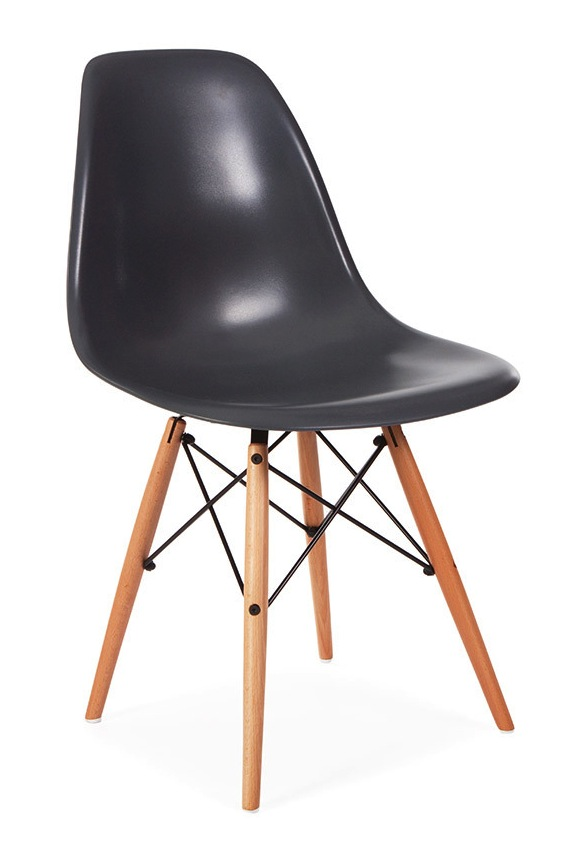 Molded Plastic Side Chair With Dowel Leg Base Home And