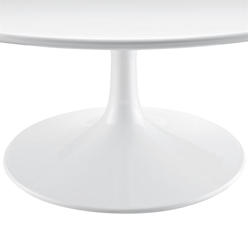 White Fiberglass Flower Coffee Table In 36inch Or 40inch