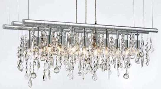 Cellula Style Triple Crystal Chandelier – Linear Chandelier Crystal
