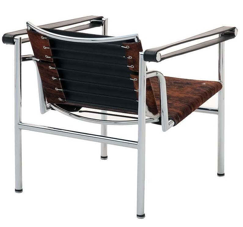 Lc1 sling chair natural cowhide le corbusier lc1 - Chaise lc1 le corbusier ...