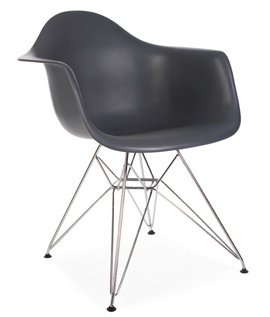 Molded Plastic Armchair With Metal Legs Or Wooden Legs ...