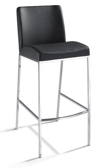 New York Modern Leather Counter Stools Modern Bar And