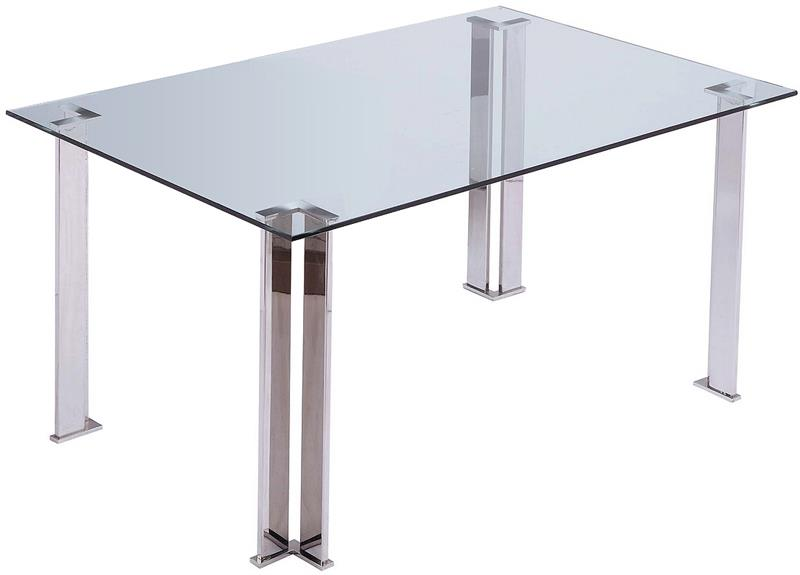 Plume Rectangular Table With Stainless Steel Legs Modern  : PlumeDiningTable1 from modernselections.com size 800 x 575 jpeg 23kB