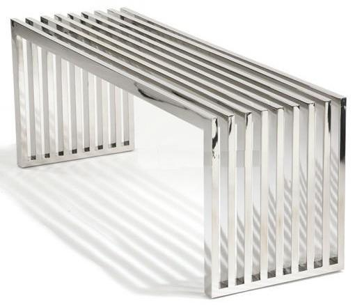 Linear Polished Stainless Steel Bench Home And Office