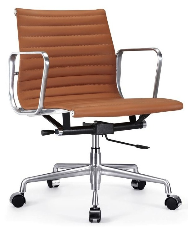 Ribbed Back Leather Office Chair Home And Office