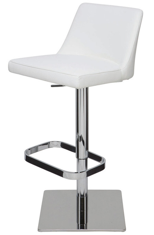 Nuevo Rome Adjustable Bar Stool Naugahyde Modern Bar And