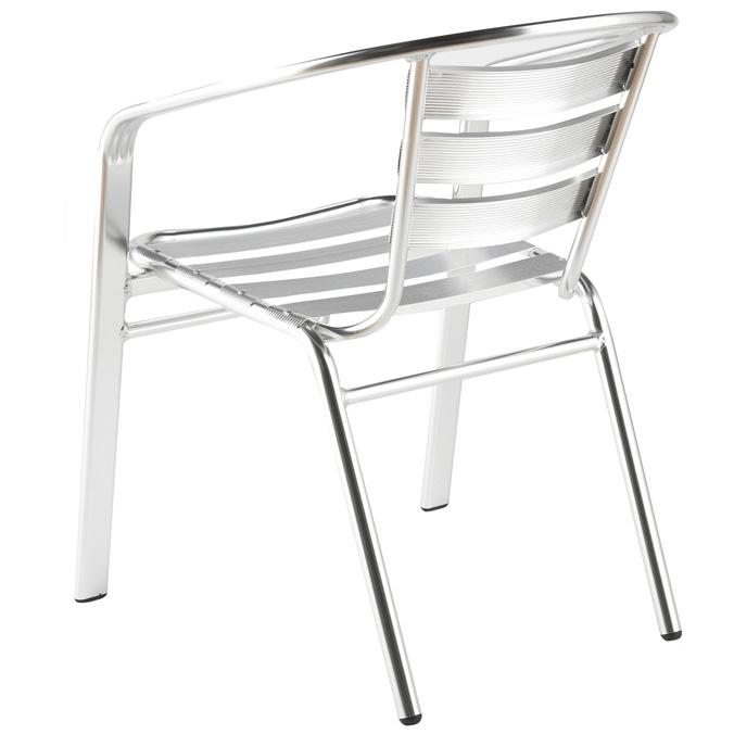 Indoor Outdoor Aluminum Stacking Chairs Set Of 6