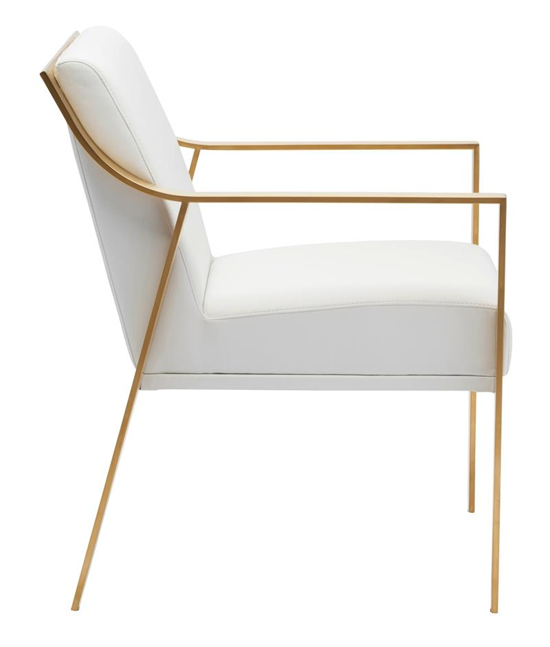 Valentine Dining Armchair In Gold Frame Modernselections Com