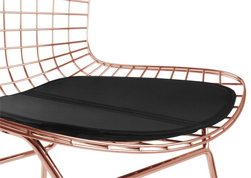 Rose Gold Bertoia Side Chair Rose Gold Dining Chairs Mid