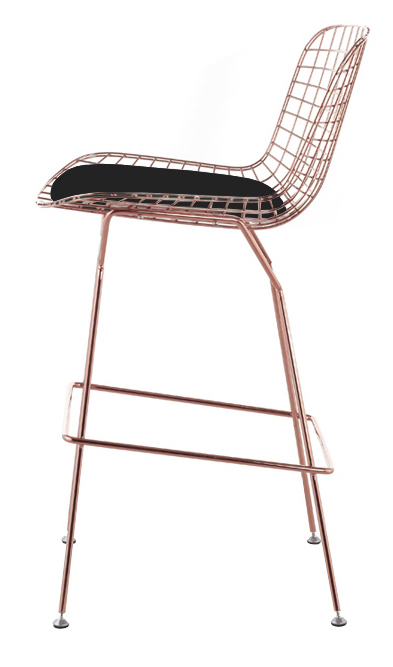 Bertoia Wire Counter Stool In Rose Gold Finish - Bar