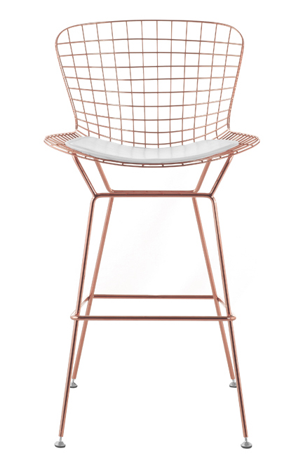 Bertoia wire counter stool in rose gold finish bar counter stools - Bertoia wire counter stool ...