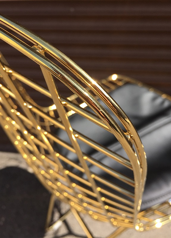 Bertoia Wire Side Chair In Gold Finish Home And Office