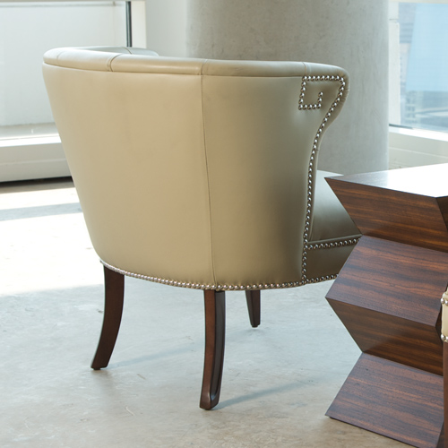 Hermes Accent Chair Beige Leather Home And Office