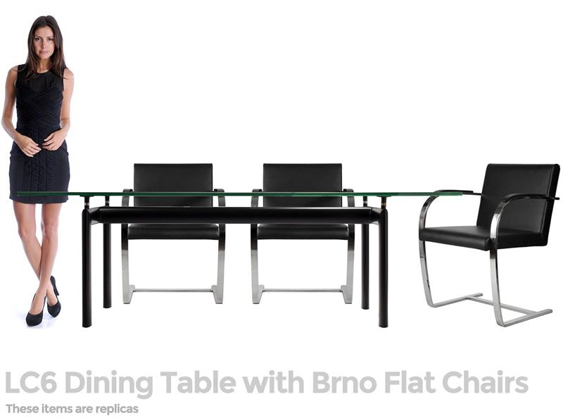 Mies Brno Style Canti Chair Flat Arm Home and fice