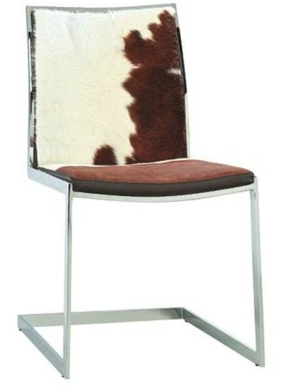 Cowhide Modern Dining Chair Home And Office Furniture