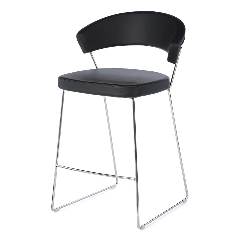 New York Leather Counter Stool By Calligaris