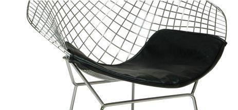 Bertoia Leatherette Seat Pad Diamond Chair