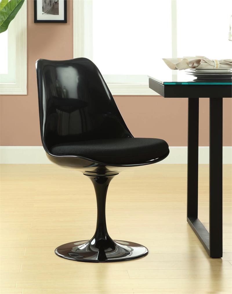 Saarinen Style Tulip Chair Black Frame Home And Office