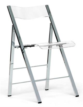 Superior Clarity Acrylic Folding Chairs   (Set Of 2)