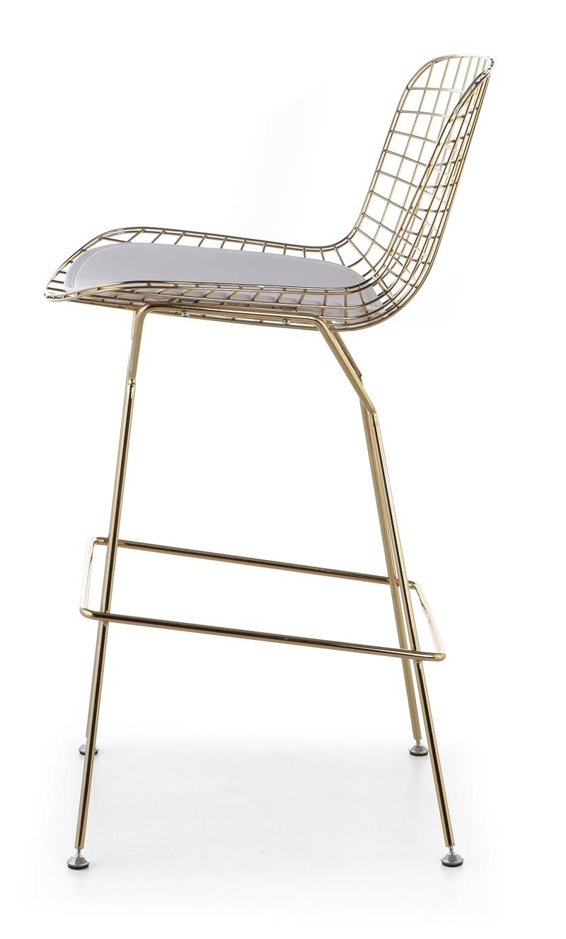 Bertoia Wire Counter Stool In Gold Finish Bar Amp Counter