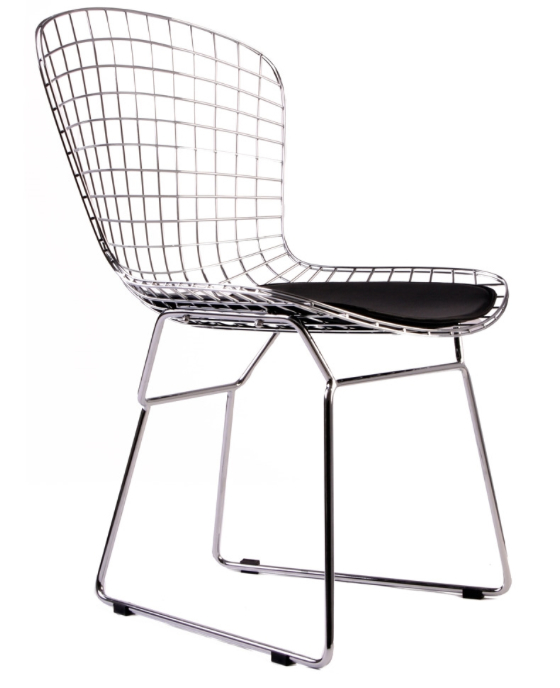 bertoia wire side chair - mid century wire chair