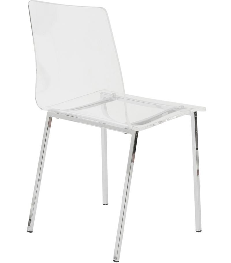 Stella Clear Acrylic Side Chair - Home and Office ...