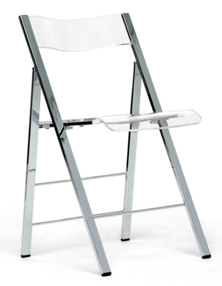 Clarity Acrylic Folding Chairs   (Set Of 2)