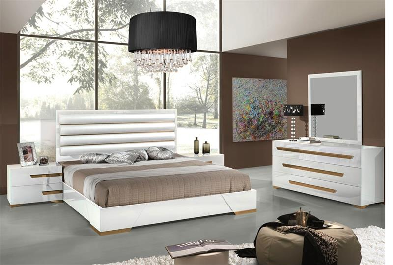 Glossy White Italian Modern Bedroom Sets Italian Bedroom Sets Free Shipping