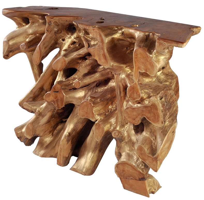 Dino Console Table In Teak Wood By Zuo Modern Best Price