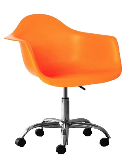 Molded Plastic Eiffel Bucket Seat Office Chair