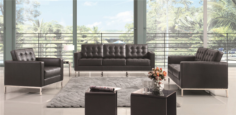 Tufted leather florence sofa set 3 piece free shipping - Interior leather bar free online ...