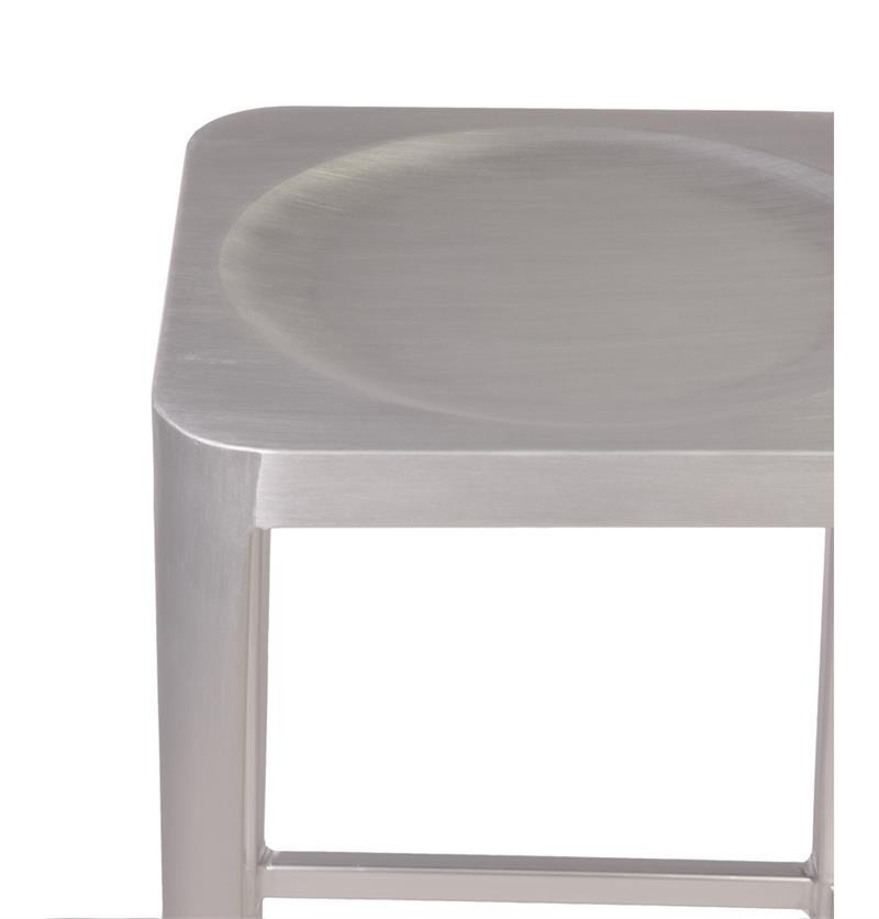 midway aluminum bar stool brushed aluminum counter and bar stools