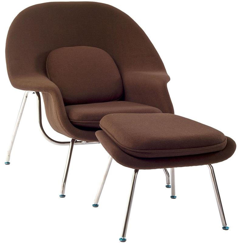 wombat lounge chair and ottoman wool home and office furniture