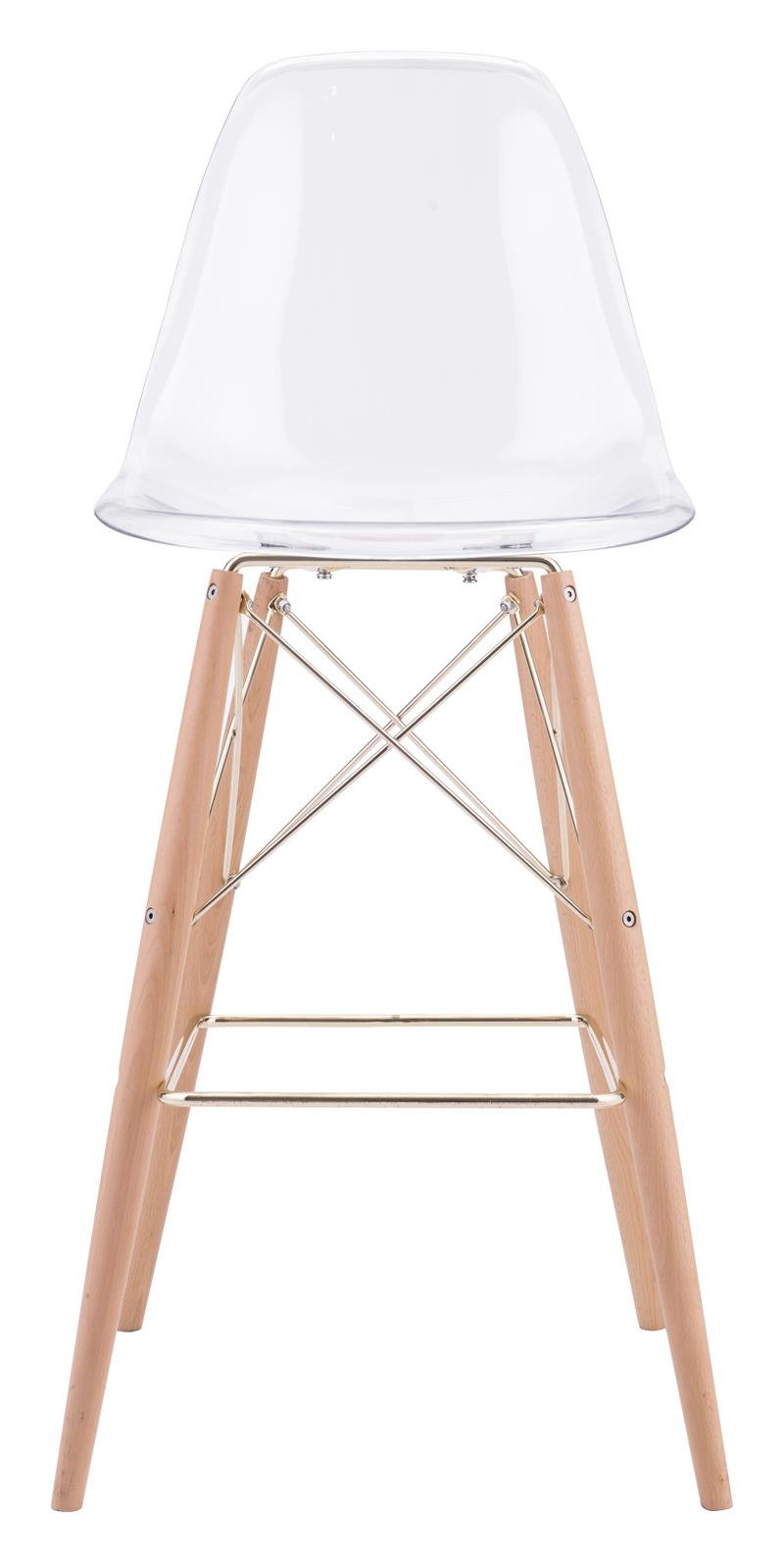 Zuo Shadow Bar Chair Transparent Shadow Bar Chair By Zuo