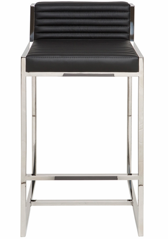Nuevo Zola Counter Stool In Leather Modern Bar And