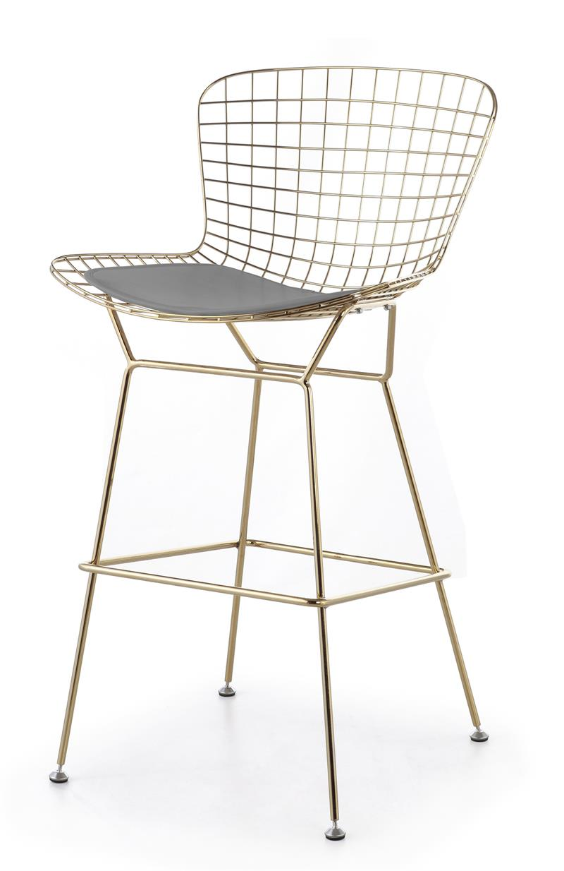 Awesome Bertoia Wire Bar Stool In Gold Finish Modernselections Com Beatyapartments Chair Design Images Beatyapartmentscom